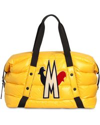 Moncler Padded Logo-patch Holdall - Yellow