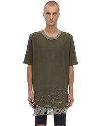 Faith Connexion Distressed T Shirt - Green