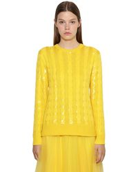 Ralph Lauren Collection Трикотажный Свитер Из Шелка - Желтый