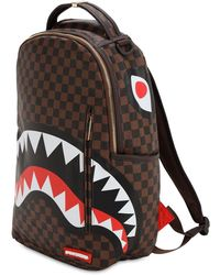 Sprayground Sleek Sharks In Paris Backpack - Brown