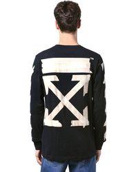 Off-White c/o Virgil Abloh Print Tape Arrows Jersey Ls T-shirt - Black