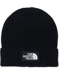 The North Face ロゴビーニー - ブラック