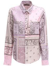 Amiri Bandana Print Flannel Shirt - Pink