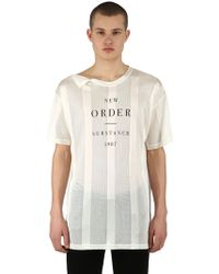 Raf Simons - Camiseta De Viscosa Estampada - Lyst