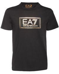 EA7 コットンジャージーtシャツ - ブラック