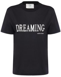 Alberta Ferretti Dreaming コットンジャージーtシャツ - ブラック