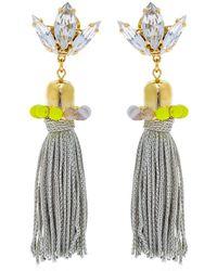 Anton Heunis - Color Block Tassel Earrings - Lyst