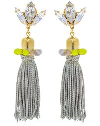 Anton Heunis - Colour Block Tassel Earrings - Lyst