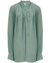 Victoria Beckham Рубашка Из Шёлкового Крепдешина - Многоцветный