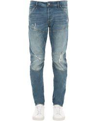"G-Star RAW - Jeans Slim Fit ""5620 3d"" In Denim Destroyed - Lyst"