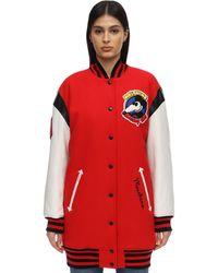 Moschino Шерстяная Куртка Оверсайз - Красный