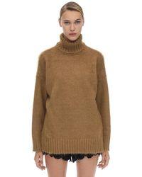 N°21 モヘア&ウール オーバーサイズタートルネックセーター - ブラック