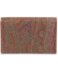 Etro Coated Canvas Compact Card Holder - Brown