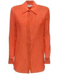Gabriela Hearst Lvr Sustainable コットンブレンドクレープシャツ - オレンジ