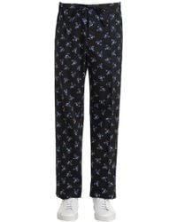 KENZO May Flower Poplin Pajama Pants - Black