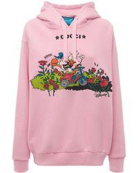 Gucci Disney X オーバーサイズコットンフーディー - ピンク