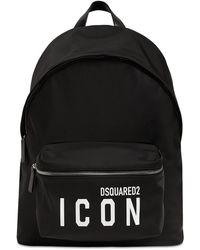 DSquared² Icon ナイロンバックパック - ブラック