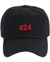 424 コットンベースボールキャップ - ブラック