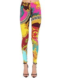 Versace Легинсы Из Джерси С Принтом - Многоцветный