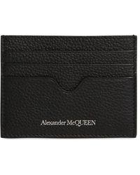 Alexander McQueen Kartenhülle Aus Leder Mit Logo - Schwarz
