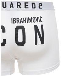 DSquared² Ibrahimovic Icon ストレッチコットントランクス - ホワイト