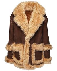 DSquared² - Oversized Shearling Coat - Lyst