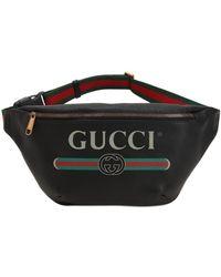 Gucci - Riñonera De Piel Grande Estilo Vintage Con Logo - Lyst