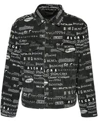 Balenciaga Джинсы Baggy Из Хлопкового Денима - Серый
