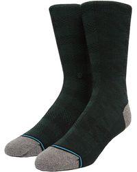 Stance Karierte Socken Aus Wollmischgewebe - Schwarz