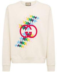 Gucci Gg Light Felted Cotton Sweatshirt - White