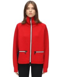 3 MONCLER GRENOBLE Double Nylon & Wool Sweatshirt - Red