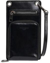 Dolce & Gabbana Multifunctional Leather I-phone Case - Black