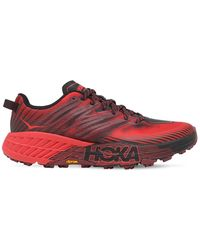Hoka One One Speedgoat 4 Trail Running スニーカー - レッド