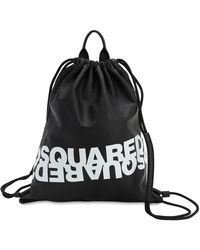 DSquared² レザーバックパック - ブラック