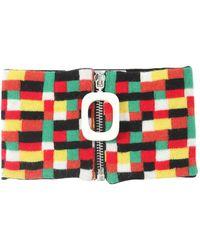 JW Anderson Zip-up Wool Knit Neckband - Mehrfarbig