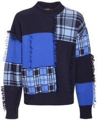 Versace Sweater Aus Patchwork - Blau