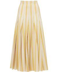 Rosie Assoulin コットンキャンバススカート - イエロー