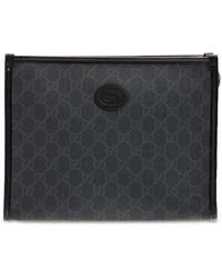 Gucci Gg Supreme Canvas Toiletry Bag - Black