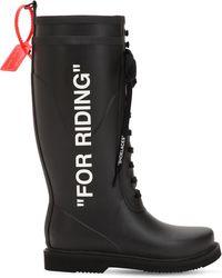 Off-White c/o Virgil Abloh Botas de agua For Riding - Negro