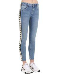 """Kappa Jeans """"banda Bissa"""" In Denim Di Cotone - Blu"""
