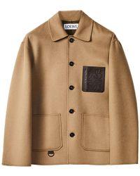 Loewe Chaqueta Workwear De Lana Y Cashmere - Neutro