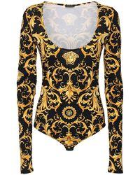 Versace ジャージーボディスーツ - ブラック