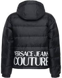 Versace Jeans Couture Двухсторонняя Нейлоновая Куртка На Пуху - Черный
