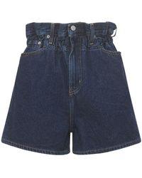 Ganni Levi's Dark Indigo Denim Shorts - Blue