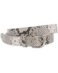 Isabel Marant 25mm Zap Python Printed Leather Belt - Multicolor