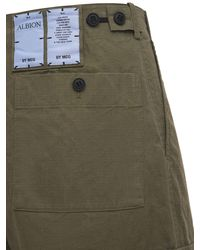 McQ Albion Ripstop Straight Leg Cargo Trousers - Natural