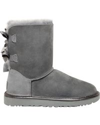 UGG - Bailey Bow Metallic Shearling Boots - Lyst