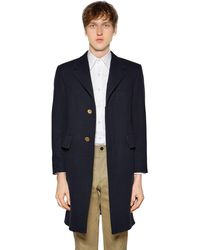 "Thom Browne Mantel Aus Wollfilz ""chesterfield"" - Blau"