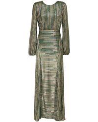 ROTATE BIRGER CHRISTENSEN Платье Миди Из Люрекса - Зеленый