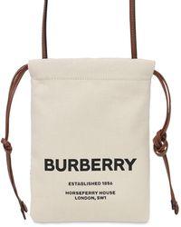 Burberry キャンバスポーチバッグ - マルチカラー